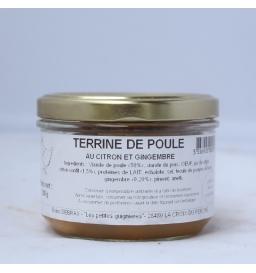 Terrine de poule au citron et gingembre (200g)
