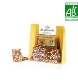 Mini tablettes gourmandes chocolat noir au caramel fleur de sel