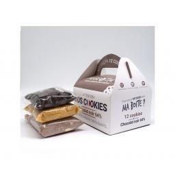 Kit de préparation 12 cookies chocolat noir
